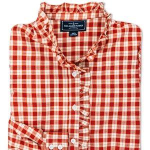 Kiel James Patrick Holly Ruffle Shirt- XL